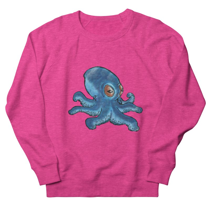 Cephalopodette Women's French Terry Sweatshirt by Illustrator Dave's Artist Shop