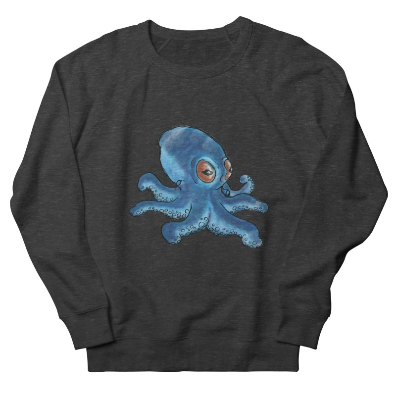 Cephalopodette Men's French Terry Sweatshirt by Illustrator Dave's Artist Shop
