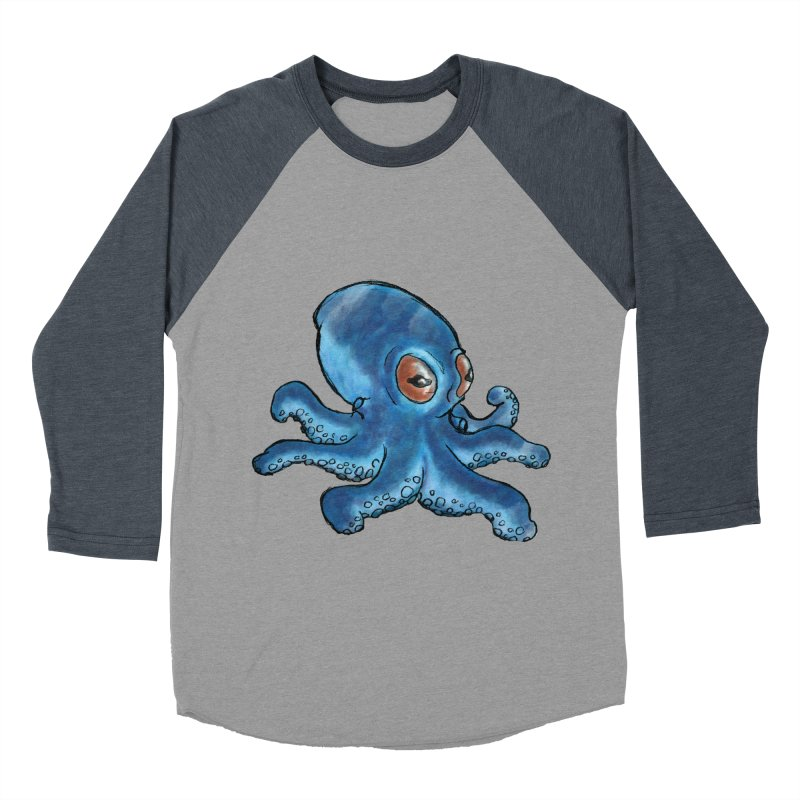 Cephalopodette Men's Baseball Triblend T-Shirt by Illustrator Dave's Artist Shop