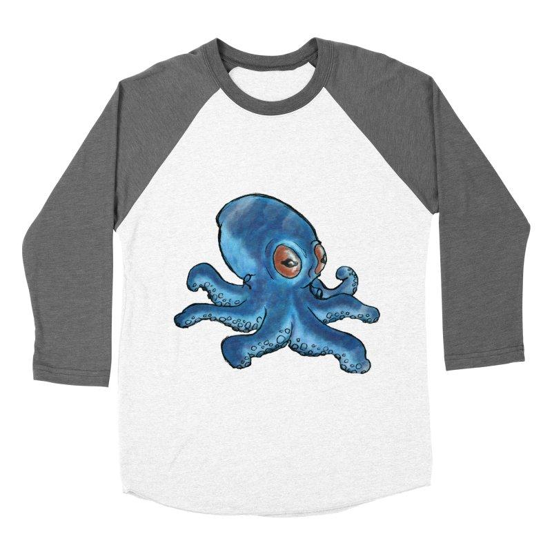 Cephalopodette Men's Baseball Triblend Longsleeve T-Shirt by Illustrator Dave's Artist Shop