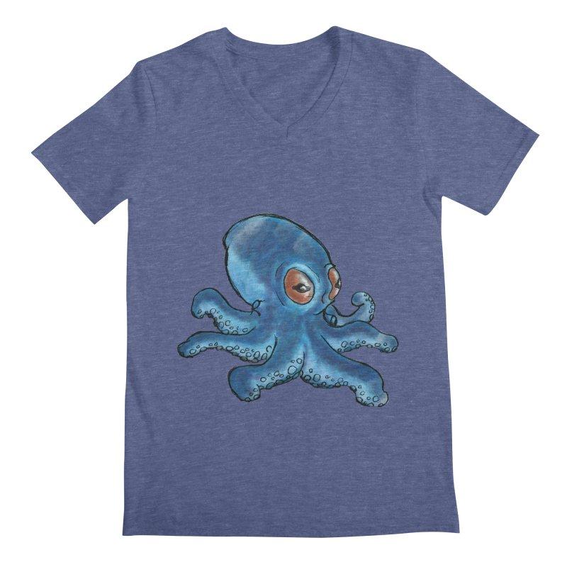 Cephalopodette Men's V-Neck by Illustrator Dave's Artist Shop