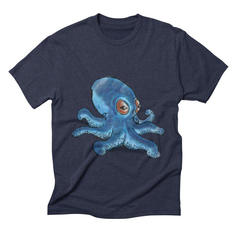 Cephalopodette Men's Triblend T-shirt by Illustrator Dave's Artist Shop