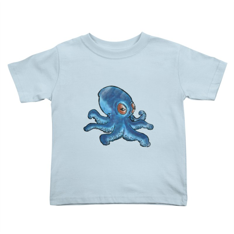 Cephalopodette Kids Toddler T-Shirt by Illustrator Dave's Artist Shop