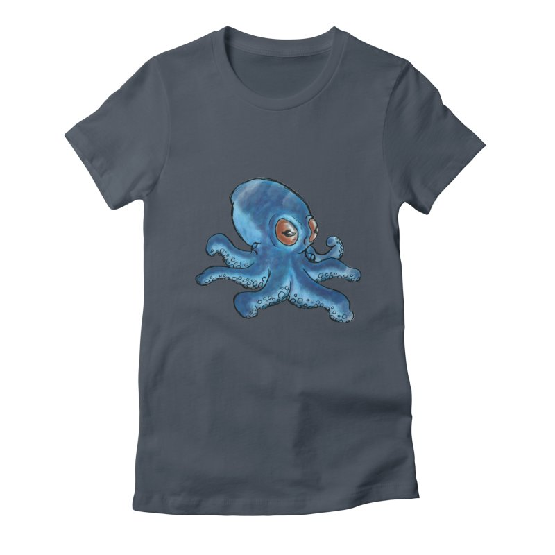 Cephalopodette Women's Fitted T-Shirt by Illustrator Dave's Artist Shop