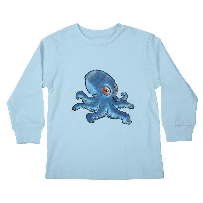 Cephalopodette Kids Longsleeve T-Shirt by Illustrator Dave's Artist Shop