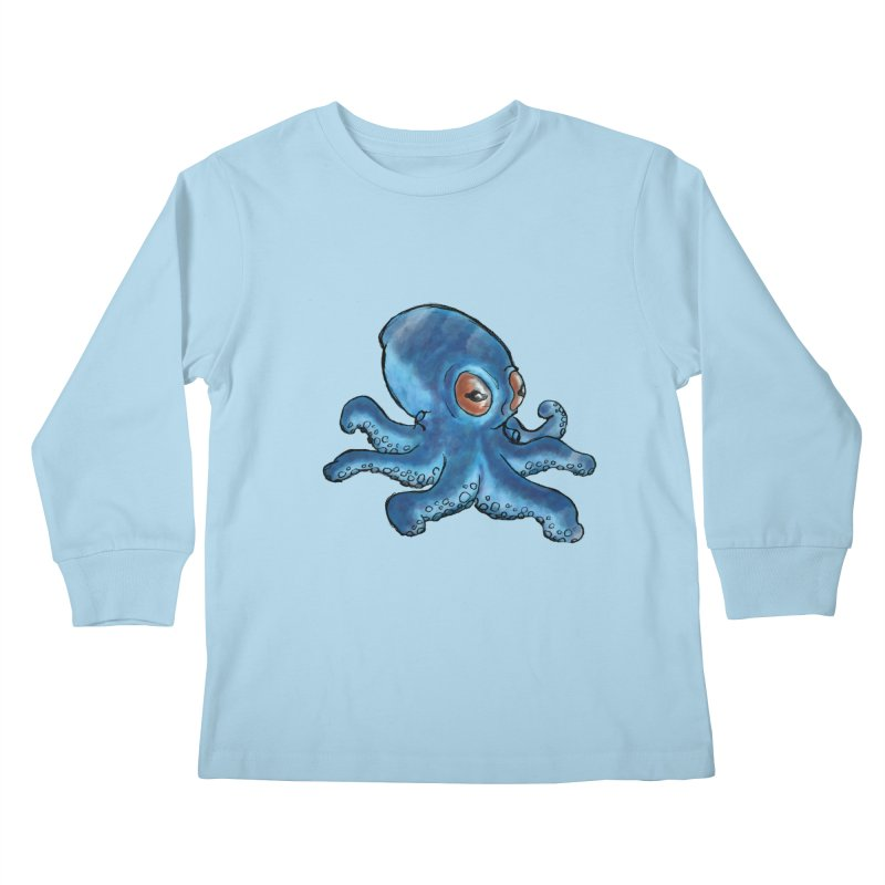 Cephalopodette Kids Longsleeve T-Shirt by Illustrator Dave's Artist Shop
