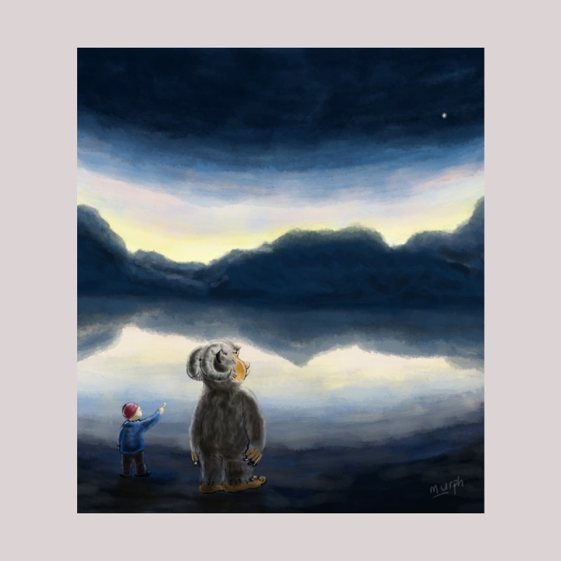 Lakeside stargazing. by Illustrator Dave's Artist Shop