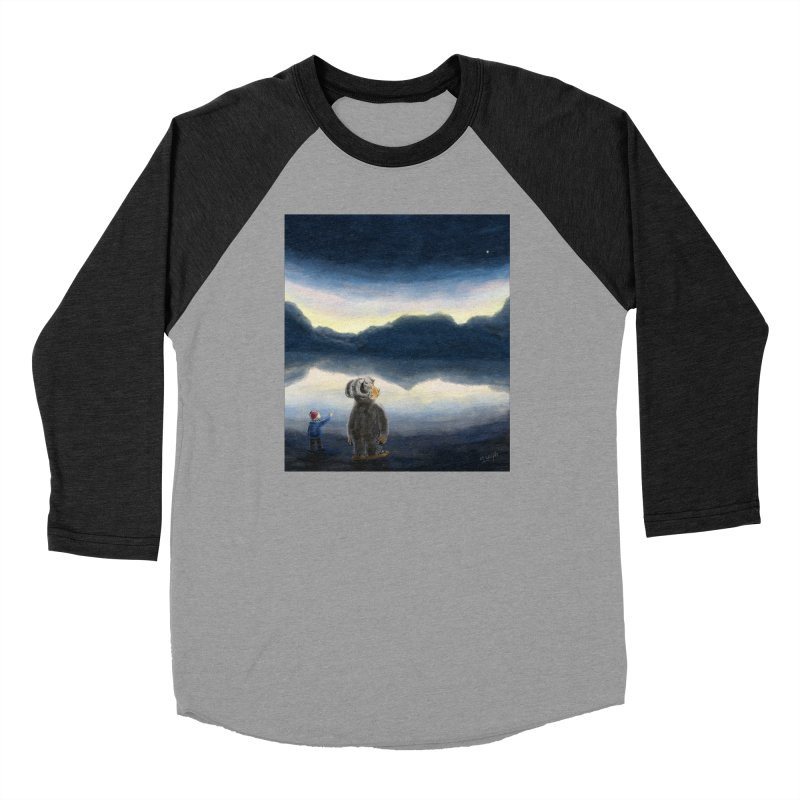 Lakeside stargazing. Men's Longsleeve T-Shirt by Illustrator Dave's Artist Shop