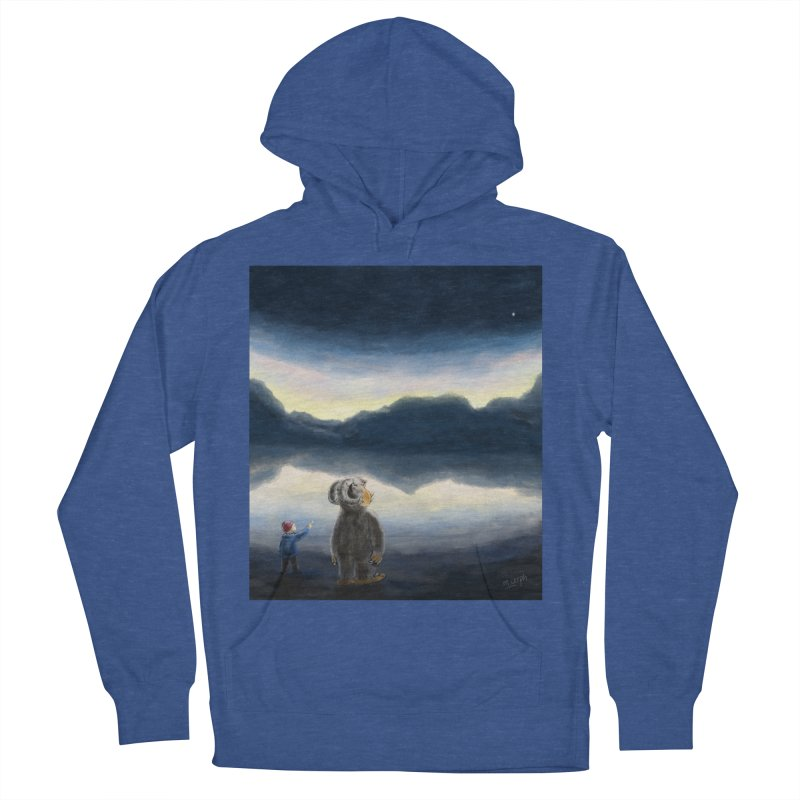 Lakeside stargazing. Women's French Terry Pullover Hoody by Illustrator Dave's Artist Shop