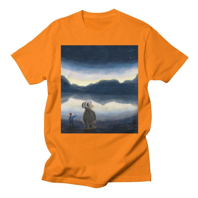 Lakeside stargazing. Men's Regular T-Shirt by Illustrator Dave's Artist Shop