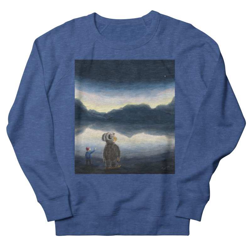 Lakeside stargazing. Women's Sweatshirt by Illustrator Dave's Artist Shop