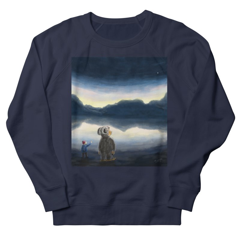 Lakeside stargazing. Women's French Terry Sweatshirt by Illustrator Dave's Artist Shop