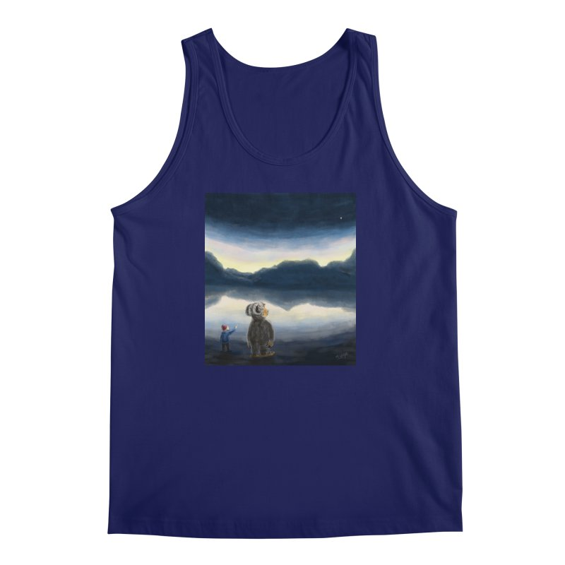 Lakeside stargazing. Men's Tank by Illustrator Dave's Artist Shop