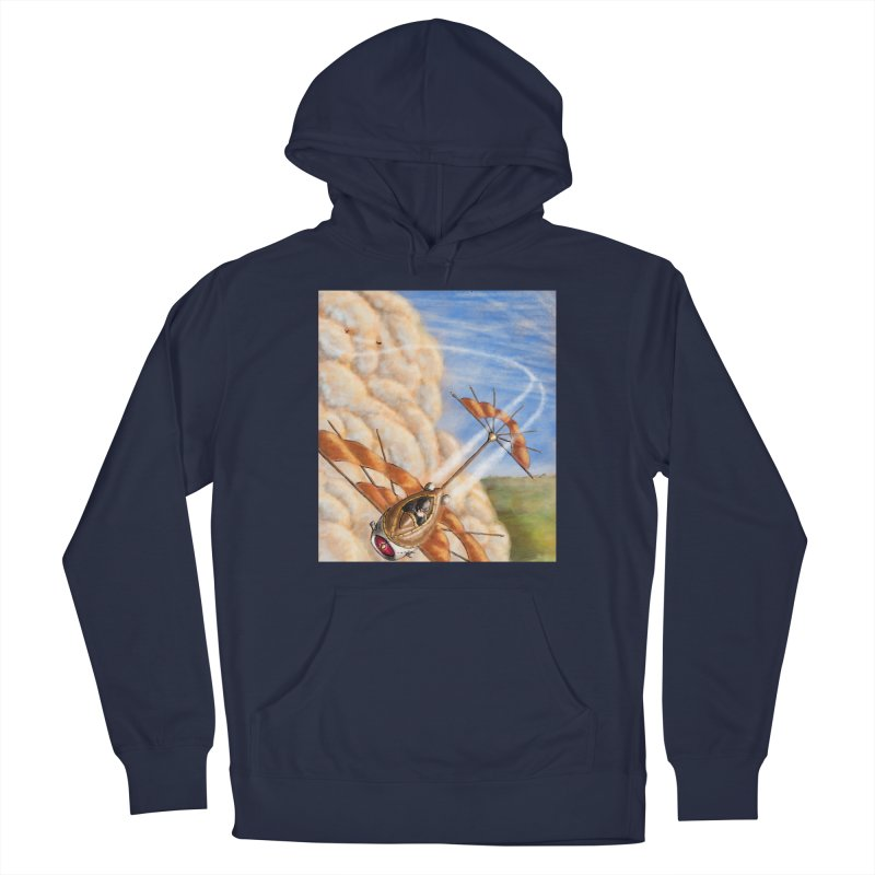 Flying through the clouds. Men's Pullover Hoody by Illustrator Dave's Artist Shop