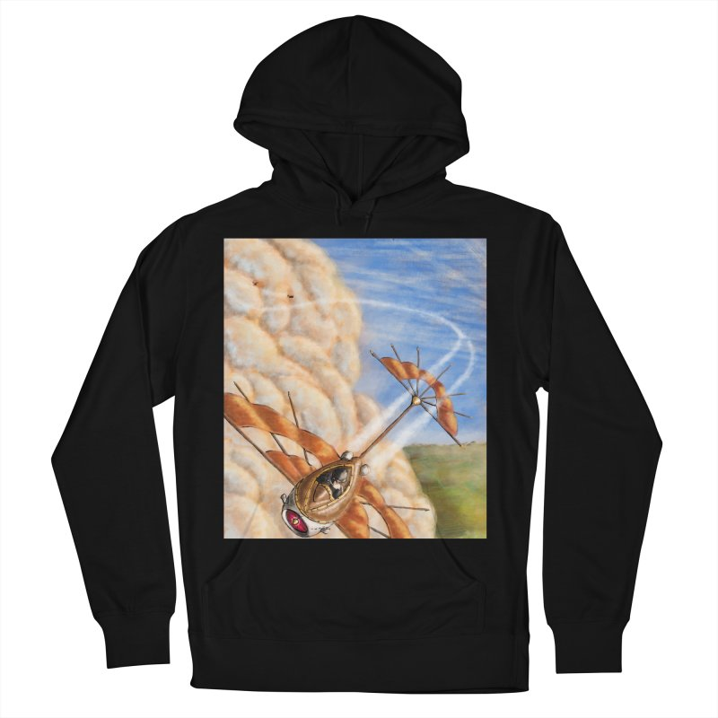 Flying through the clouds. Men's French Terry Pullover Hoody by Illustrator Dave's Artist Shop