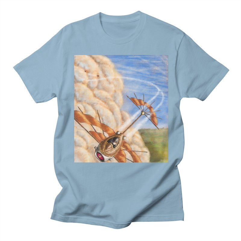 Flying through the clouds. Men's T-Shirt by Illustrator Dave's Artist Shop
