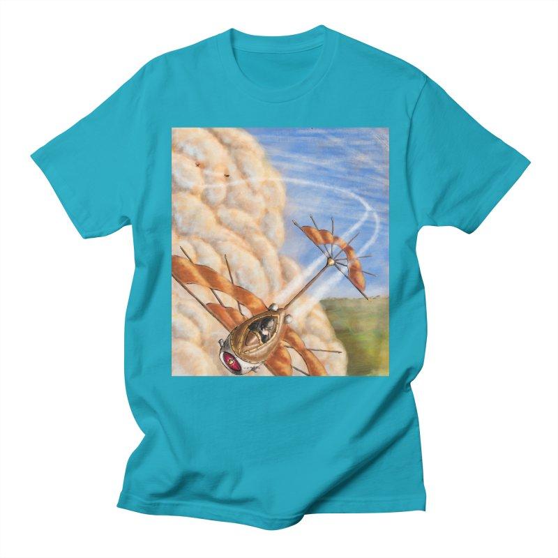 Flying through the clouds. Men's Regular T-Shirt by Illustrator Dave's Artist Shop