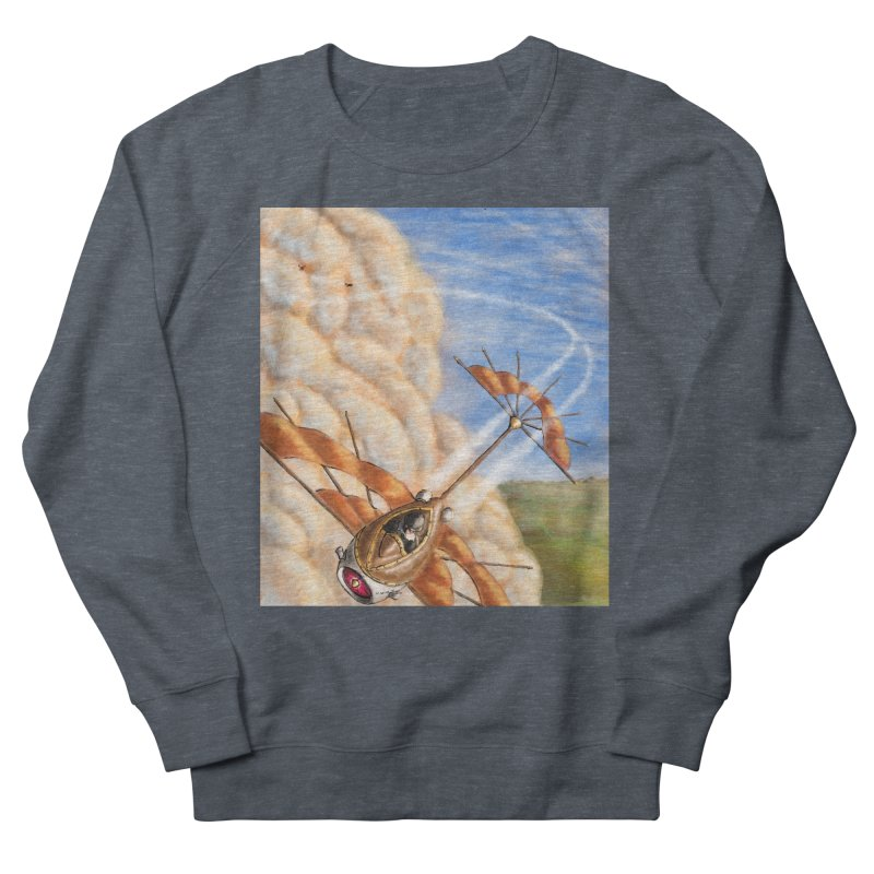 Flying through the clouds. Women's Sweatshirt by Illustrator Dave's Artist Shop