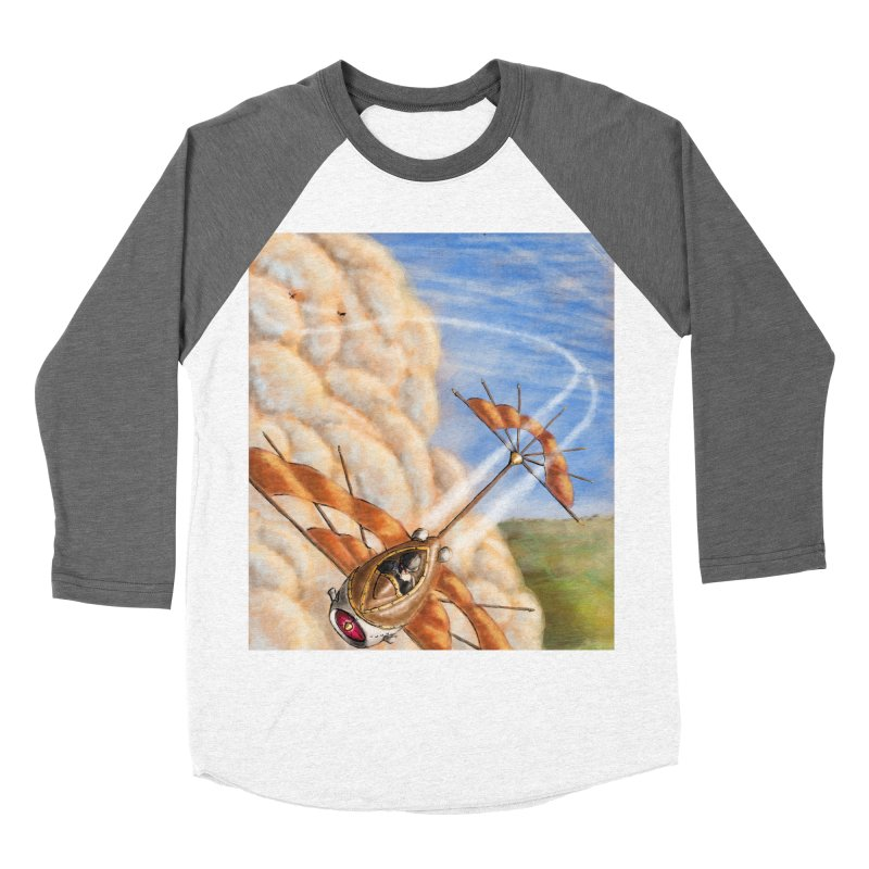 Flying through the clouds. Women's Baseball Triblend T-Shirt by Illustrator Dave's Artist Shop