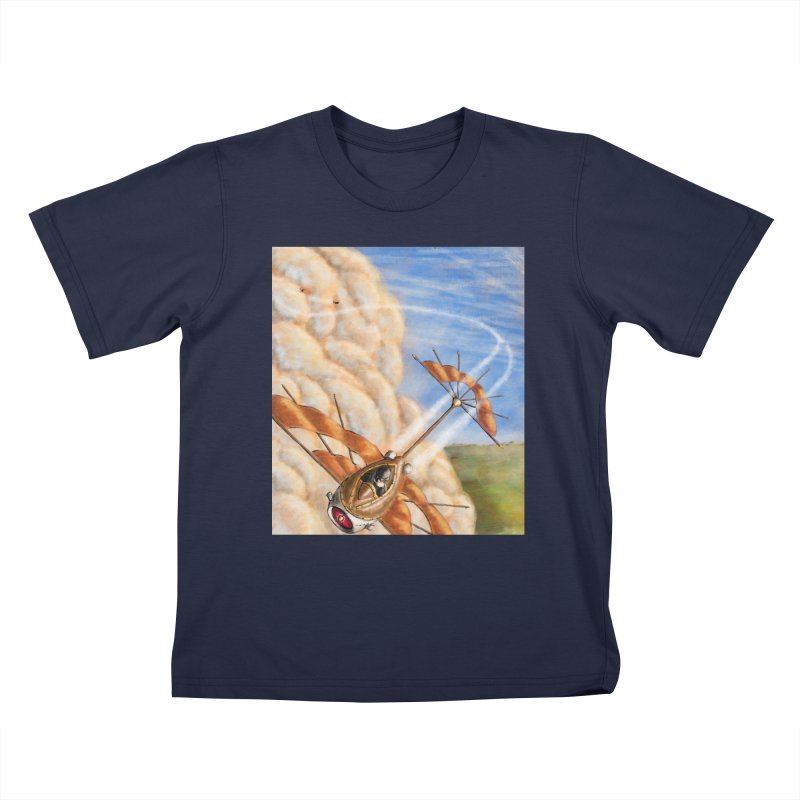 Flying through the clouds. Kids T-shirt by Illustrator Dave's Artist Shop