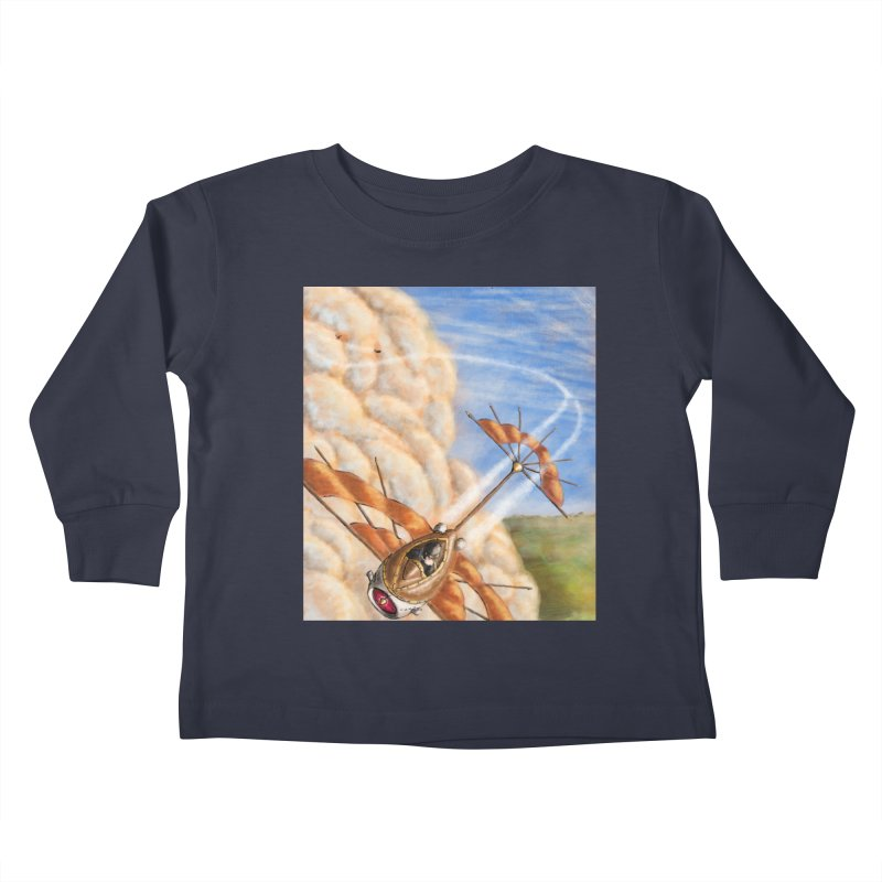 Flying through the clouds. Kids Toddler Longsleeve T-Shirt by Illustrator Dave's Artist Shop