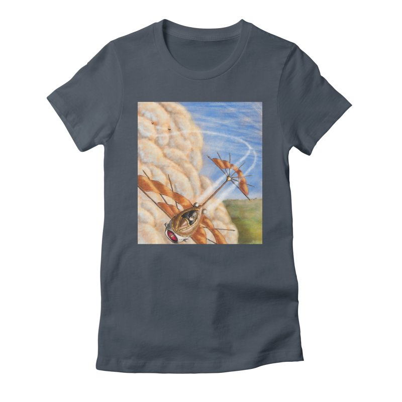 Flying through the clouds. Women's T-Shirt by Illustrator Dave's Artist Shop