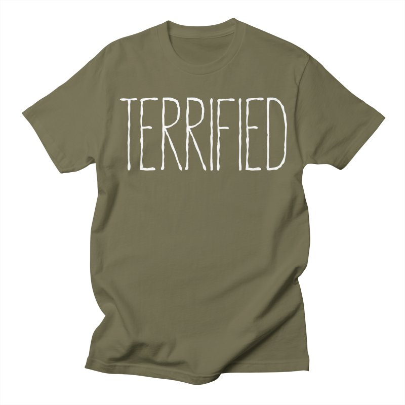 TERRIFIED Men's Regular T-Shirt by Dave Ross's Shop