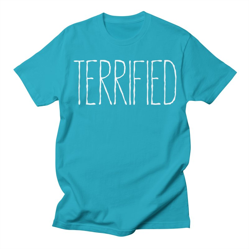 TERRIFIED Men's T-shirt by davetotheross's Artist Shop