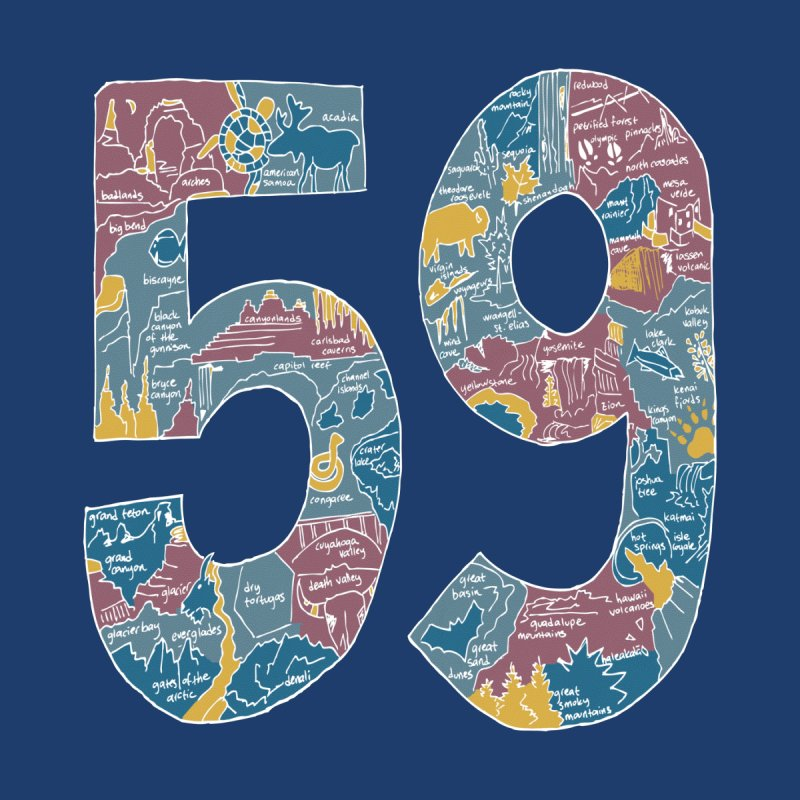 59 National Parks by Davey Barnwell: Artist Shop