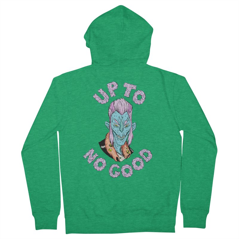 Up To No Good, Blue Creep Women's French Terry Zip-Up Hoody by Davey Krofta