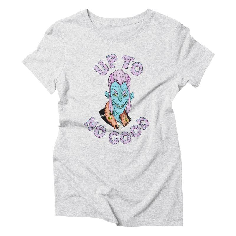 Up To No Good, Blue Creep Women's Triblend T-Shirt by daveyk's Artist Shop