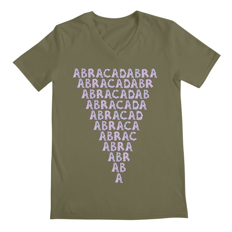 ABRACADABRA, ABRACA-SHMABRA Men's Regular V-Neck by daveyk's Artist Shop