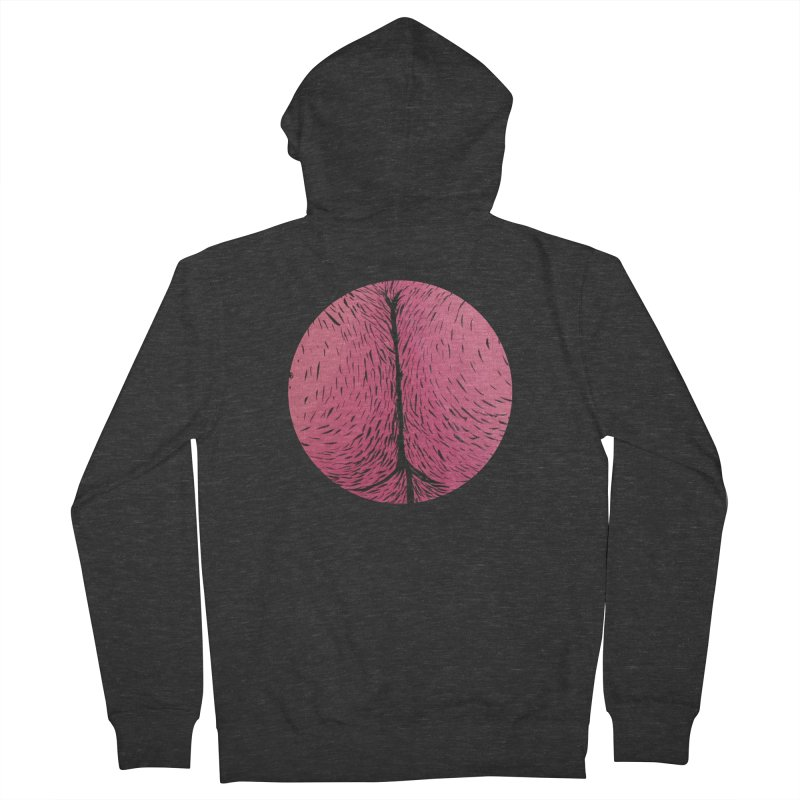 Butts Make Me Nuts Women's French Terry Zip-Up Hoody by Davey Krofta