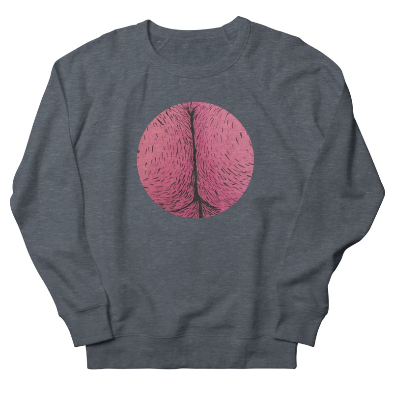 Butts Make Me Nuts Men's French Terry Sweatshirt by Davey Krofta
