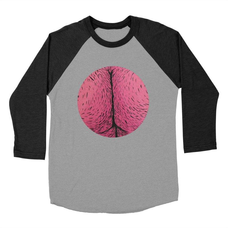 Butts Make Me Nuts Men's Baseball Triblend Longsleeve T-Shirt by daveyk's Artist Shop