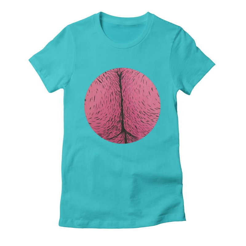 Butts Make Me Nuts Women's Fitted T-Shirt by daveyk's Artist Shop