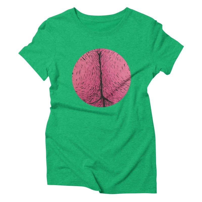 Butts Make Me Nuts Women's Triblend T-Shirt by daveyk's Artist Shop