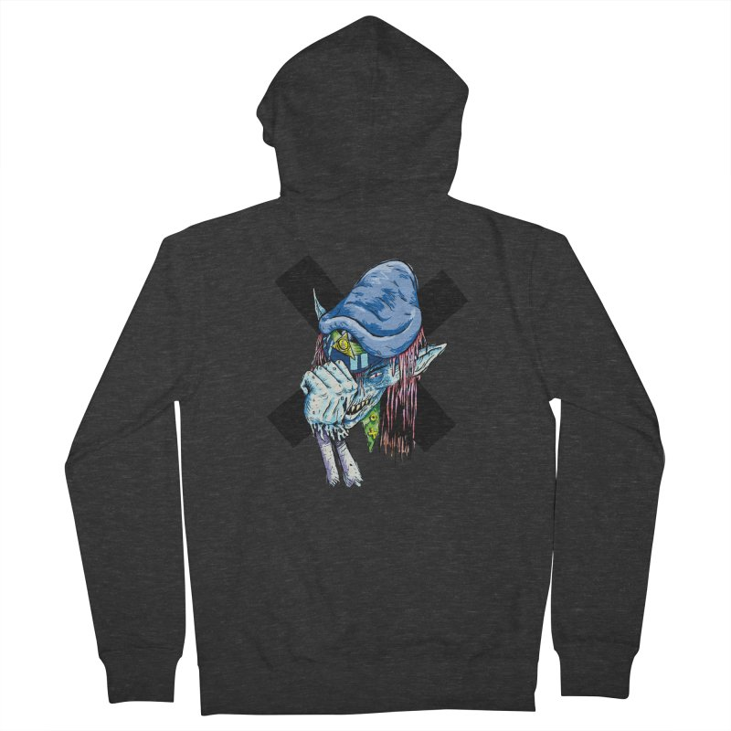 Tip Of The Hat Women's French Terry Zip-Up Hoody by daveyk's Artist Shop