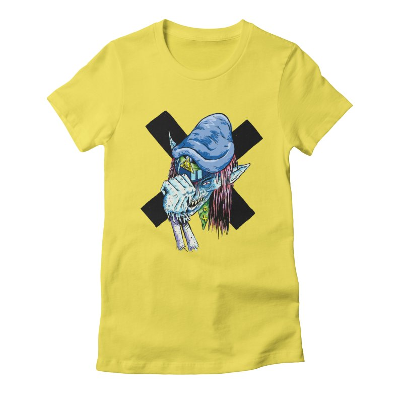Tip Of The Hat Women's Fitted T-Shirt by daveyk's Artist Shop