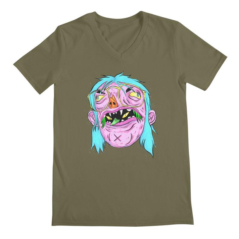 Peepin and Creepin Men's Regular V-Neck by daveyk's Artist Shop