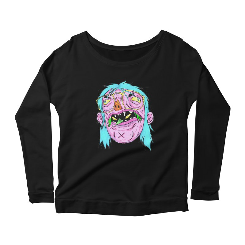 Peepin and Creepin Women's Longsleeve Scoopneck  by daveyk's Artist Shop