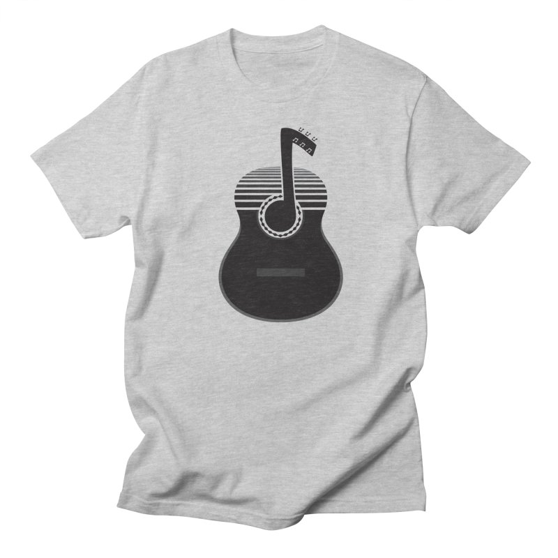 Classical Notes in Men's T-Shirt Heather Grey by DavidBS