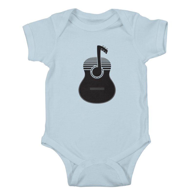 Classical Notes Kids Baby Bodysuit by DavidBS