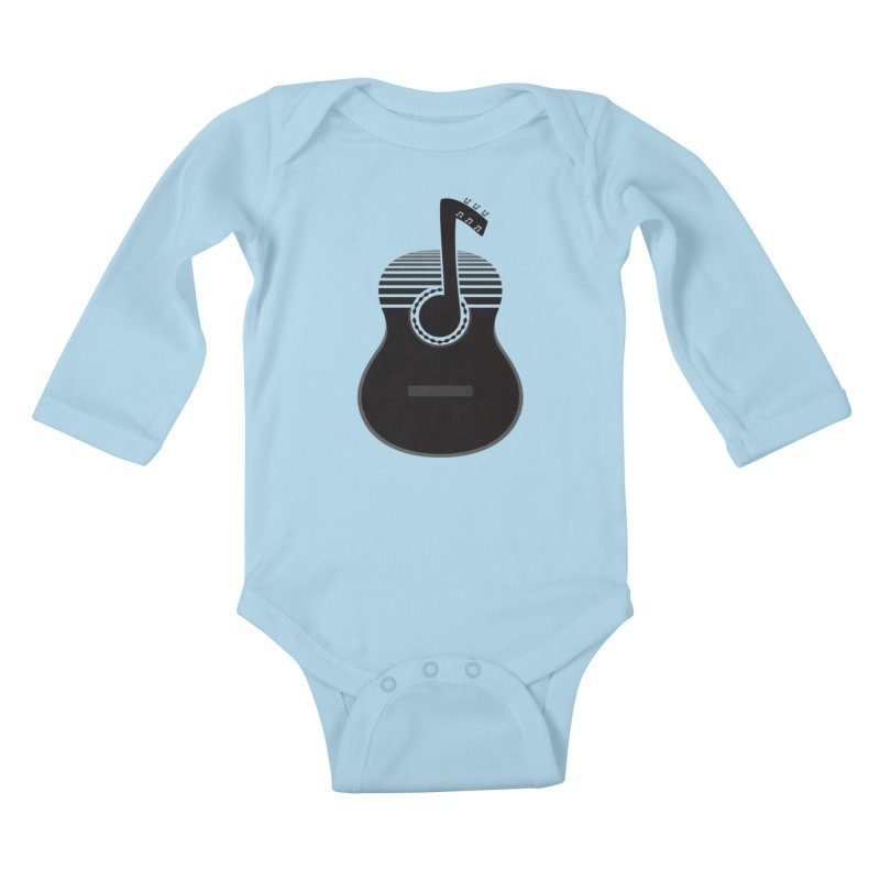Classical Notes Kids Baby Longsleeve Bodysuit by DavidBS