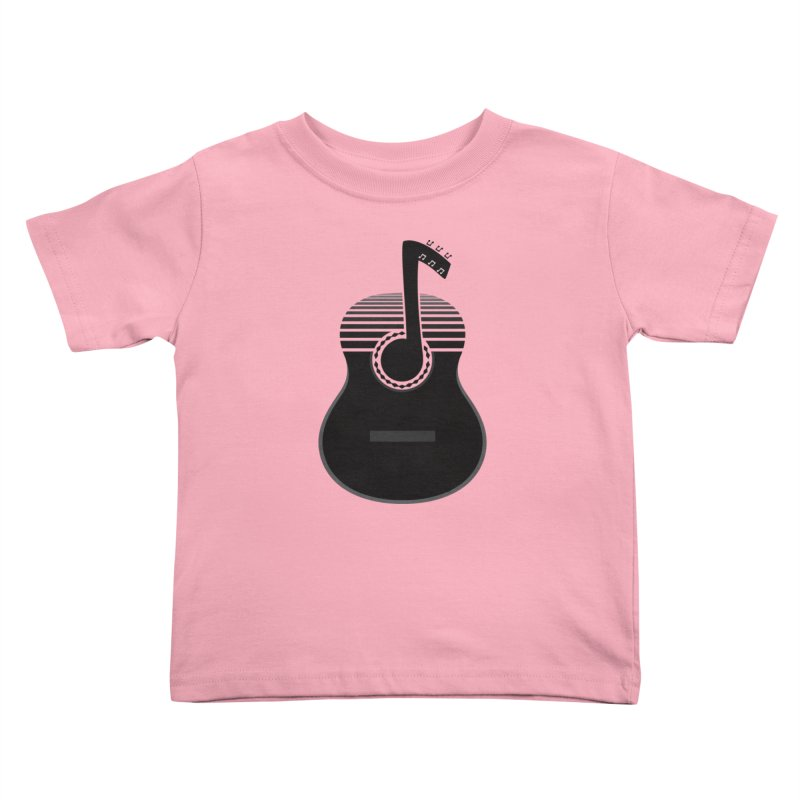 Classical Notes Kids Toddler T-Shirt by DavidBS