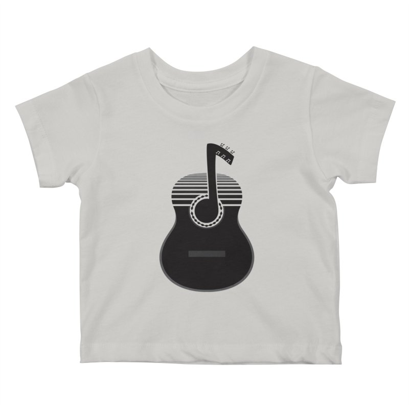 Classical Notes Kids Baby T-Shirt by DavidBS