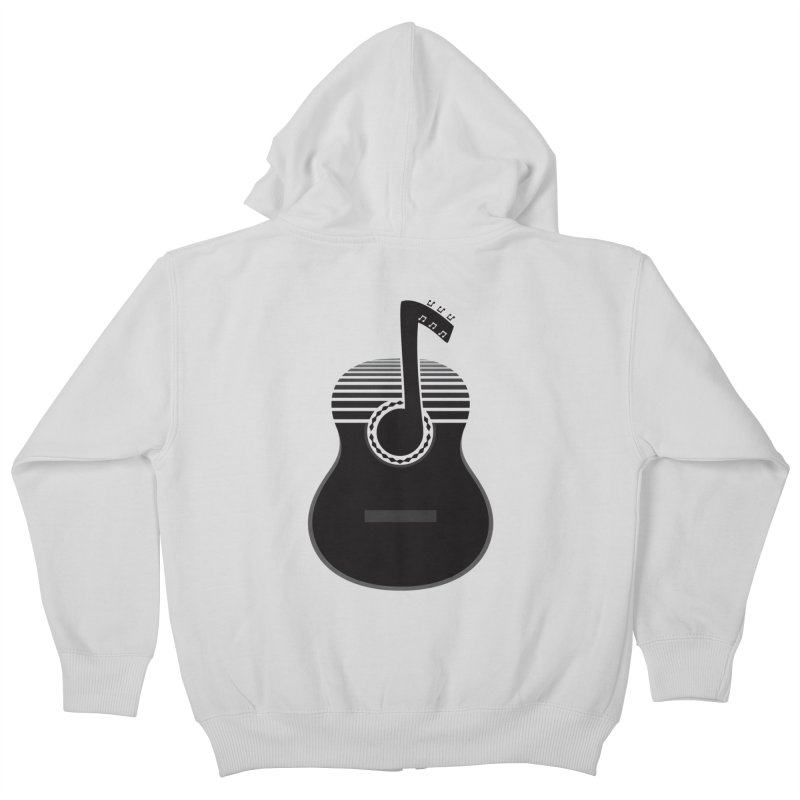 Classical Notes Kids Zip-Up Hoody by DavidBS