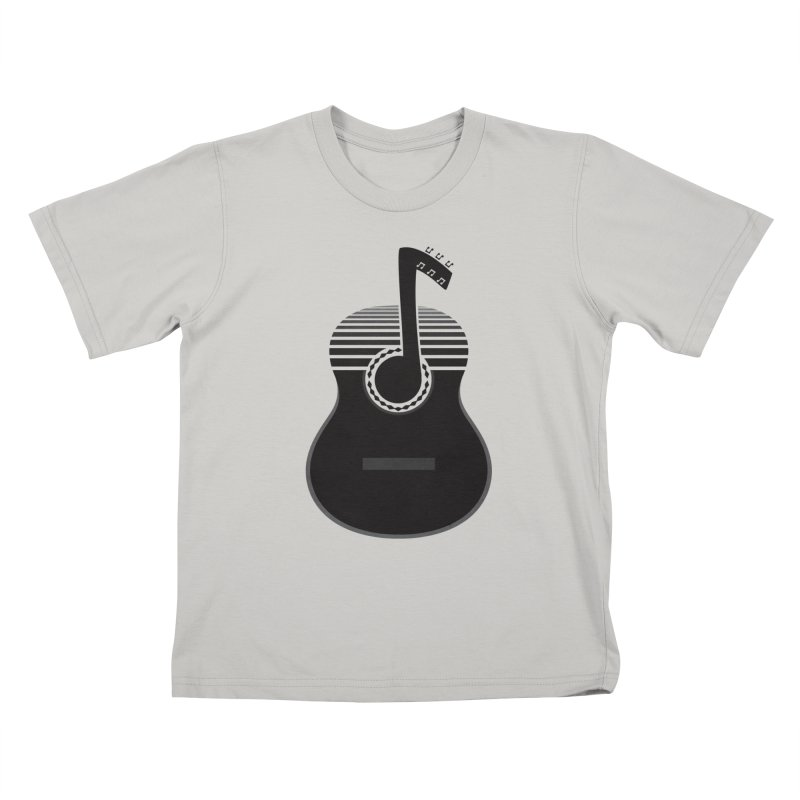 Classical Notes Kids T-shirt by DavidBS