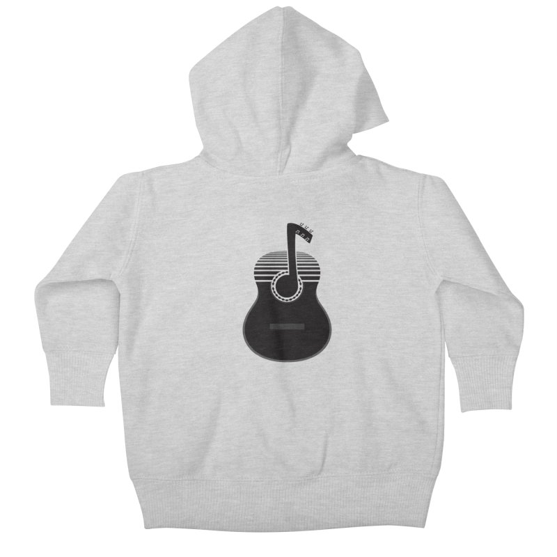 Classical Notes Kids Baby Zip-Up Hoody by DavidBS