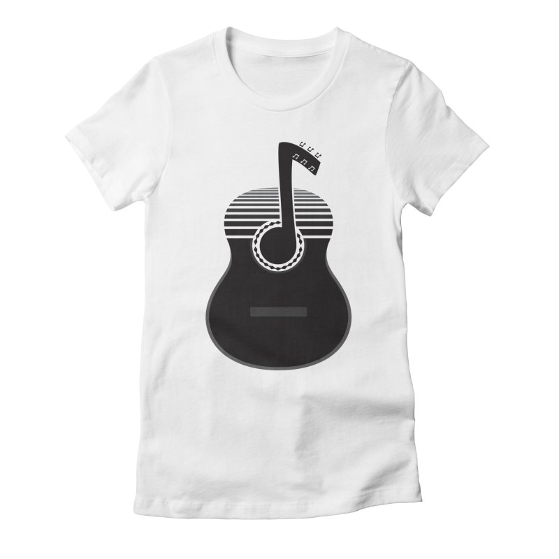 Classical Notes Women's Fitted T-Shirt by DavidBS